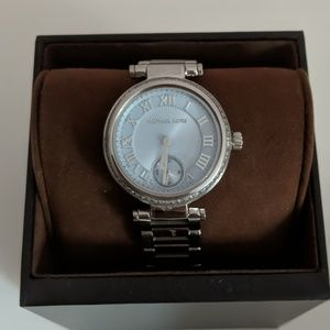 Michael Kors blue faces silver watch